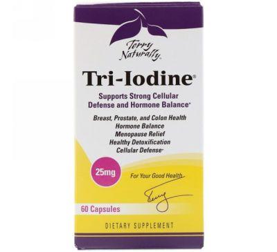 EuroPharma, Terry Naturally, Tri-Iodine, 25 мг, 60 капсул