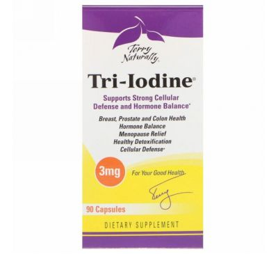 EuroPharma, Terry Naturally, Tri-Iodine, 3 мг, 90 капсул