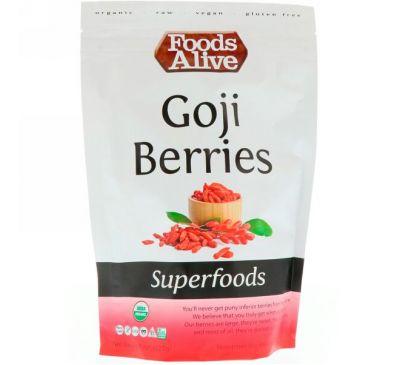 Foods Alive, Чудо-пища, ягоды годжи, 8 унц. (227 г)