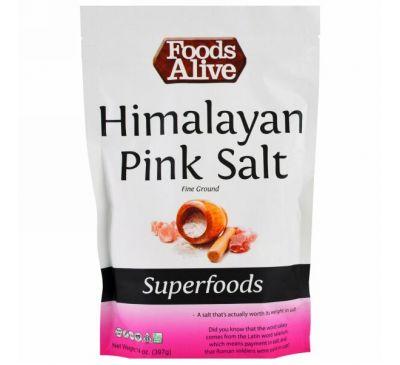 Foods Alive, Superfoods, Himalayan Pink Salt, fine ground, 14 oz (397 g)