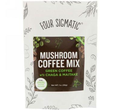 Four Sigmatic, Кофейная смесь из необжаренных зерен с грибами чага и майтаке, 1 унция (30 г)