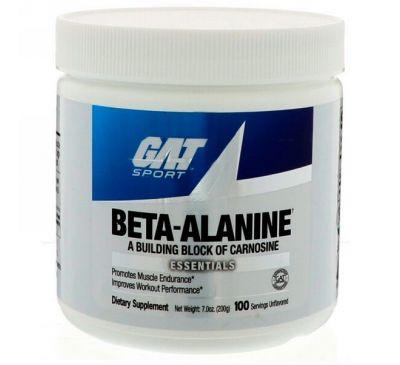 GAT, Бета-аланин, без вкусовых добавок, 200 г