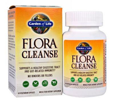 Garden of Life, Flora Cleanse, 60 капсул в растительной оболочке