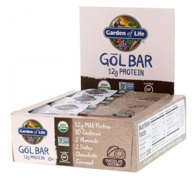 Garden of Life, GOL Bars, Chocolate Coconut, 12 Bars, 2.11 oz (60 g) Each