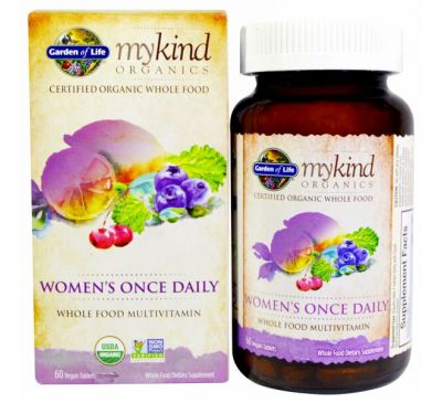 Garden of Life, KIND Organics, Women's Once Daily, 60 веганских таблеток