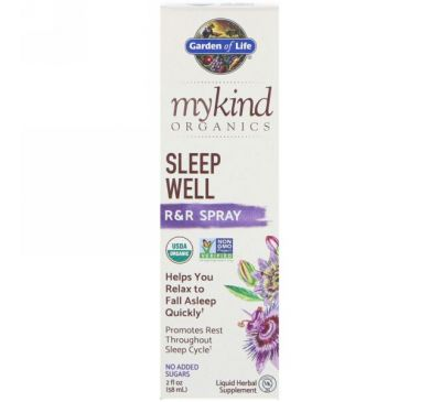 Garden of Life, MyKind Organics, Sleep Well R&R Spray, 2 fl oz (58 ml)