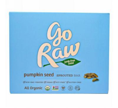 Go Raw, Органические батончики из семян проросшей тыквы, 10 батончиков, 13 г каждый