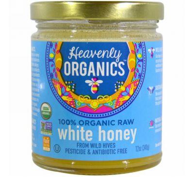 Heavenly Organics, 100% органический сырой белый мед, 12 унций (340 г)