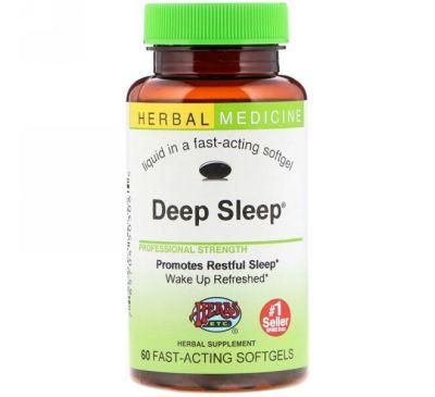 Herbs Etc., Снотворное Deep Sleep, 60 быстродействующих мягких таблеток