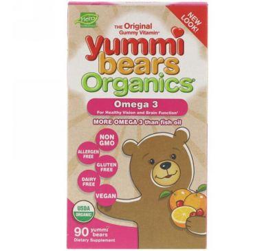 Hero Nutritional Products, Органические вкусные мишки, омега-3, 90 вкусных мишек