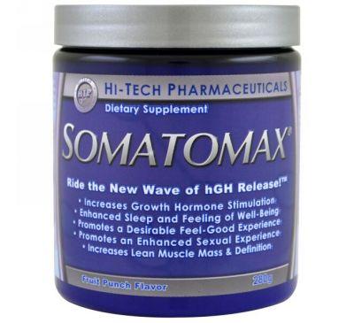 Hi Tech Pharmaceuticals, Somatomax, выброс hGH, со вкусом фруктов, 280 г