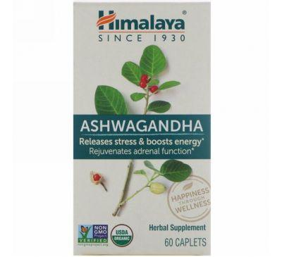 Himalaya, Ашвагандха, 60 капсуловидных таблеток