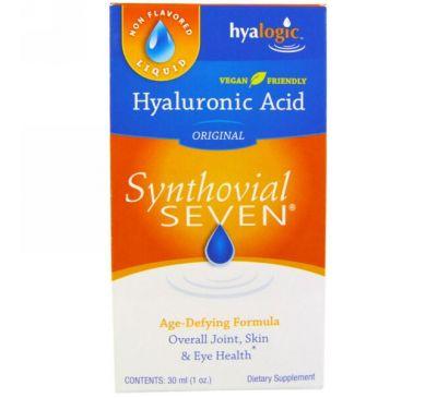 Hyalogic LLC, Гиалуроновая кислота, Synthovial Seven, 1 унция (30 мл)