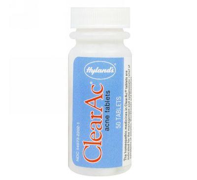 Hyland's, ClearAc, 50 таблеток