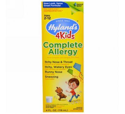 Hyland's, Complete Allergy 4 Kids, 4 жидких унций (118 мл)