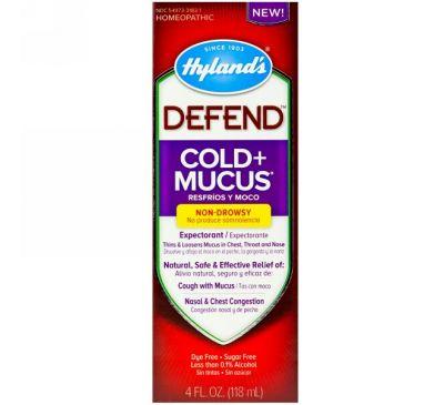 Hyland's, Defend, Сироп от простуды и насморка, 4 жидких унций (118 мл)