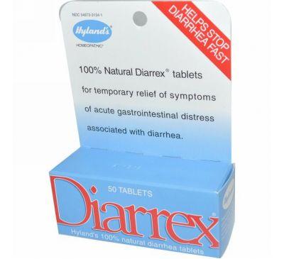 Hyland's, Диаррекс, 50 таблеток