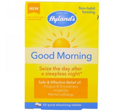 Hyland's, Доброе Утро, 50 Быстрорастворимых таблеток