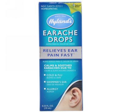 Hyland's, Капли от боли в ушах, 0,33 жидк. унц. (10 мл)