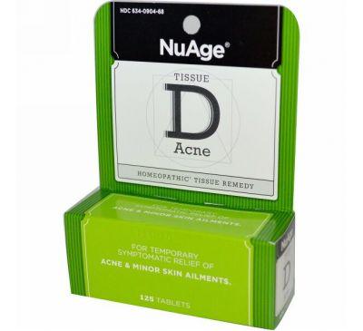 Hyland's, NuAge, Tissue D Акне 125 таблеток