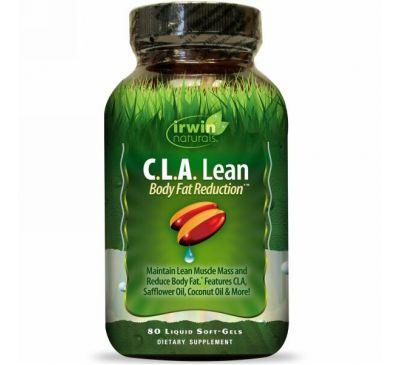 Irwin Naturals, C.L.A. для похудания и сокращения жира, 80 мягких капсул с жидкостью