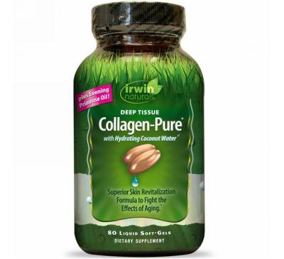 Irwin Naturals, Collagen-Pure, Deep Tissue, 80 гелевых капсул