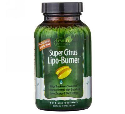"""Irwin Naturals, """"Супер-цитрусовый жиросжигатель"""", 60 мягких желатиновых капсул с жидкостью"""