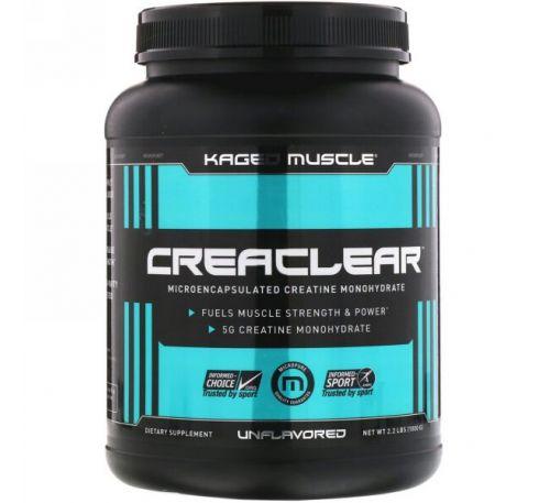 Kaged Muscle, Creaclear, без ароматизаторов, 2,2 ф. (1000 г)