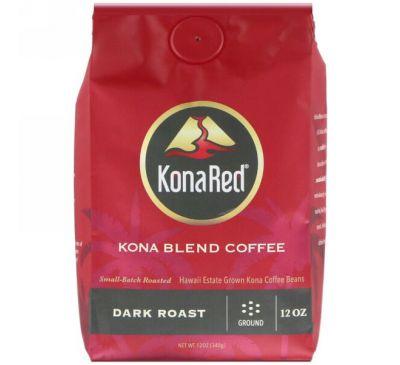KonaRed Corp, Кофе Кона, молотый, темной обжарки, 12 унц. (340 г)
