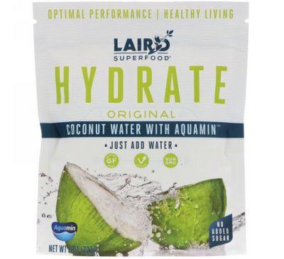 Laird Superfood, Гидратируйте, оригинальная, кокосовая вода с аквамином, 227 г