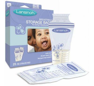 Lansinoh, Пакеты для хранения грудного молока, 25 стерильных пакетов