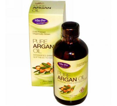 Life-flo, Чистое аргановое масло, 4 жидкие унции (118.3 мл)