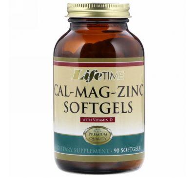 LifeTime Vitamins, Cal-Mag-Zinc With Vitamin D, 90 Softgels