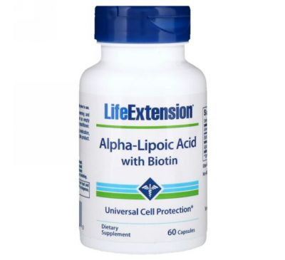 Life Extension, Alpha-Lipoic Acid with Biotin, 60 Capsules