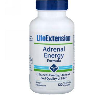Life Extension, Добавка «Формула Энергии Надпочечников», 120 Капсул