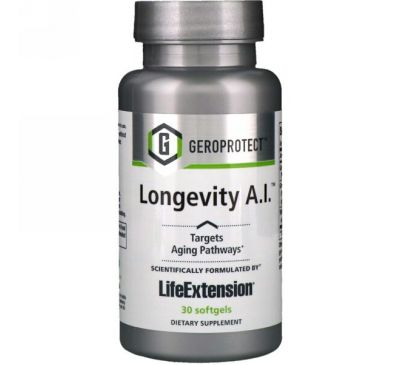 Life Extension, Geroprotect, Longevity A.I., 30 капсул