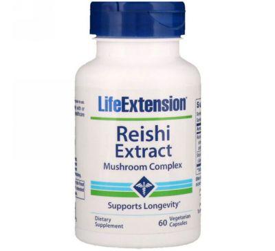 Life Extension, Комплекс из экстракта грибов Рейши, 60 вегетарианских капсул