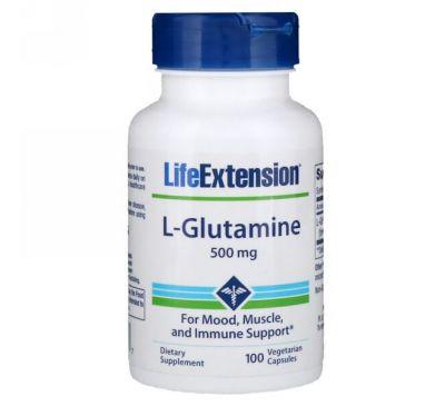 Life Extension, L-глютамин 100 капсул