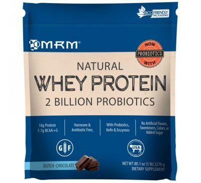 MRM, Натуральный сывороточный белок, 2 миллиарда пробиотиков, 80,! унций (2270 г)