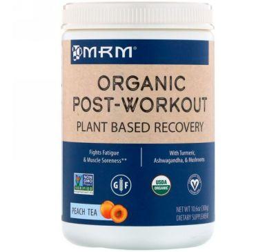 MRM, Органическое средство после тренировки, персиковый чай, 10,6 унции (300 г)