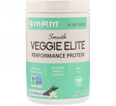 MRM, Smooth Veggie Elite Performance Protein, Rich Vanilla, 6 oz (170 g)