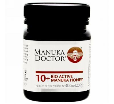 Manuka Doctor, Apiwellness, Био Активный Манука Мед, 10+, 8,75 унций (250 г)