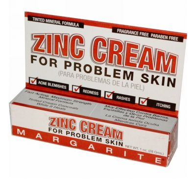 Margarite Cosmetics, Крем с цинком, для проблемной кожи, 28 г