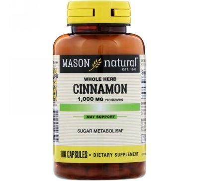 Mason Natural, Корица, 1000 мг, 100 капсул