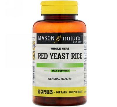 Mason Natural, Красный дрожжевой рис , 60 капсул