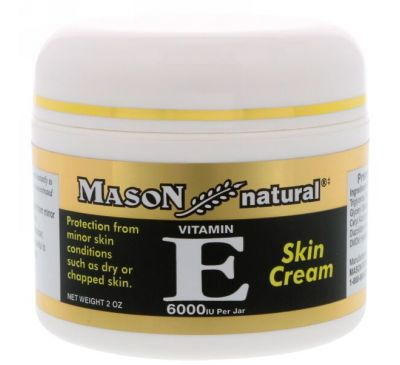 Mason Natural, Витамин Е, крем для кожи, 6000 МЕ, 2 унции