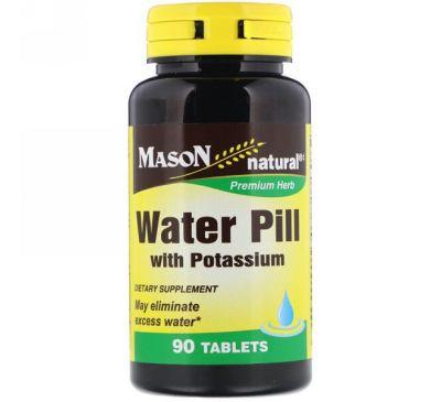 Mason Natural, Водяные таблетки с калием, 90 таблеток
