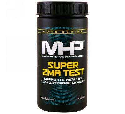 Maximum Human Performance, LLC, Тест Super ZMA, 120 капсул