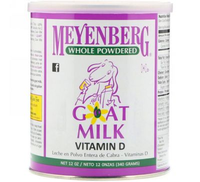 Meyenberg Goat Milk, Сухое козье молоко, витамин D, 340 г