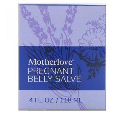 Motherlove, Целебная мазь для живота при беременности, 4 унции (118 мл)